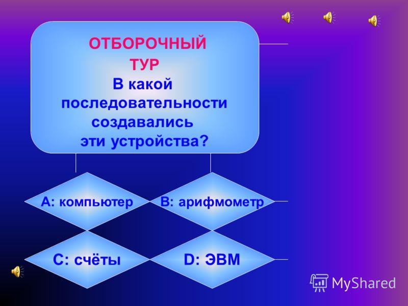 Игра по информатике «Кто хочет стать отличником?»