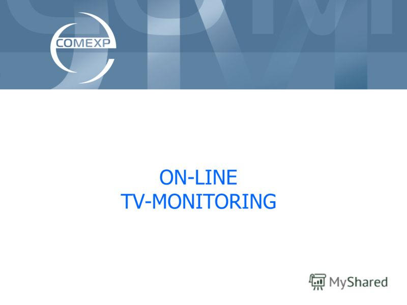 ON-LINE TV-MONITORING
