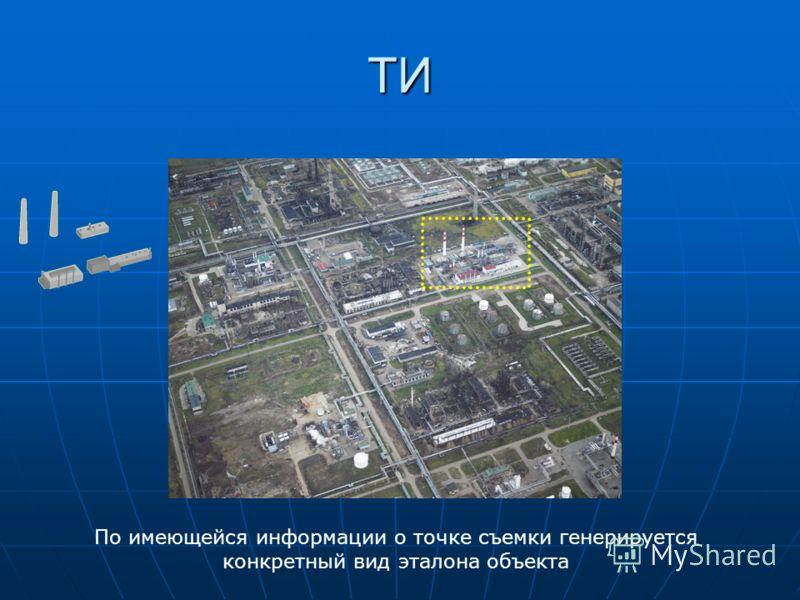 По имеющейся информации о точке съемки генерируется конкретный вид эталона объекта ТИ