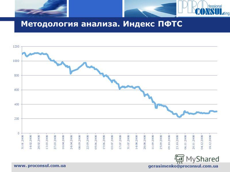 L o g o www. proconsul.com.ua gerasimenko@proconsul.com.ua Методология анализа. Индекс ПФТС