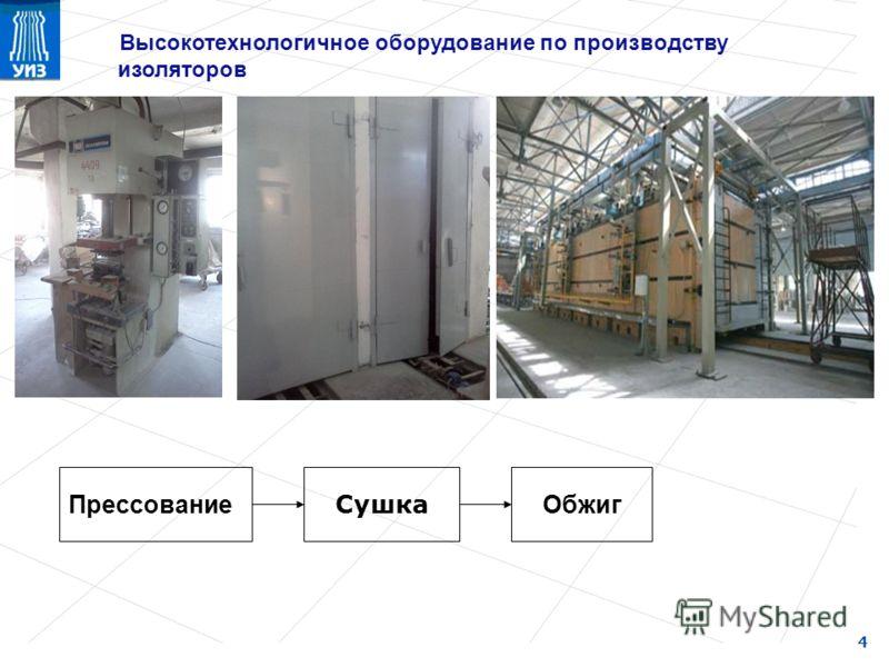 Высокотехнологичное оборудование по производству изоляторов 4 Прессование Сушка Обжиг