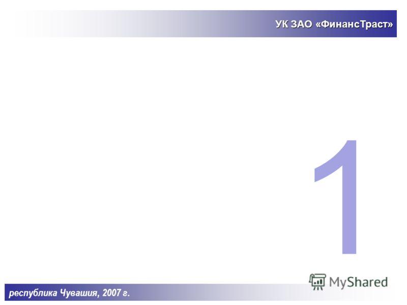 СОДЕРЖАНИЕ ПРЕЗЕНТАЦИИ: 1.УК ЗАО «ФинансТраст». 2.Стратегия инвестирования по кластерам. 3.Принятие решений. 4.Стратегия инвестирования по стадиям. 5.Финансовая модель Фонда. 6.Основные параметры Фонда. республика Чувашия, 2007 г.