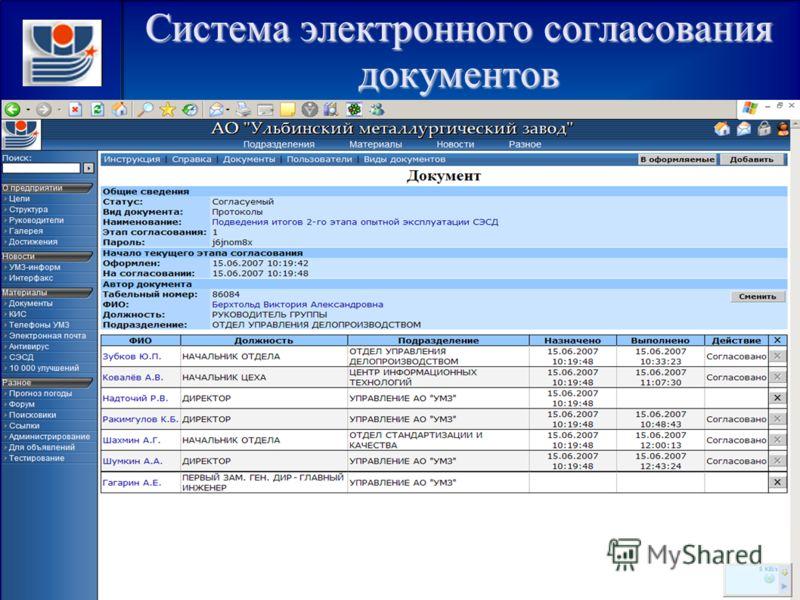 Система электронного согласования документов