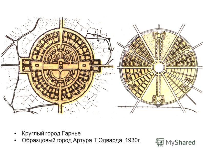 Круглый город Гарнье Образцовый город Артура Т.Эдварда. 1930г.