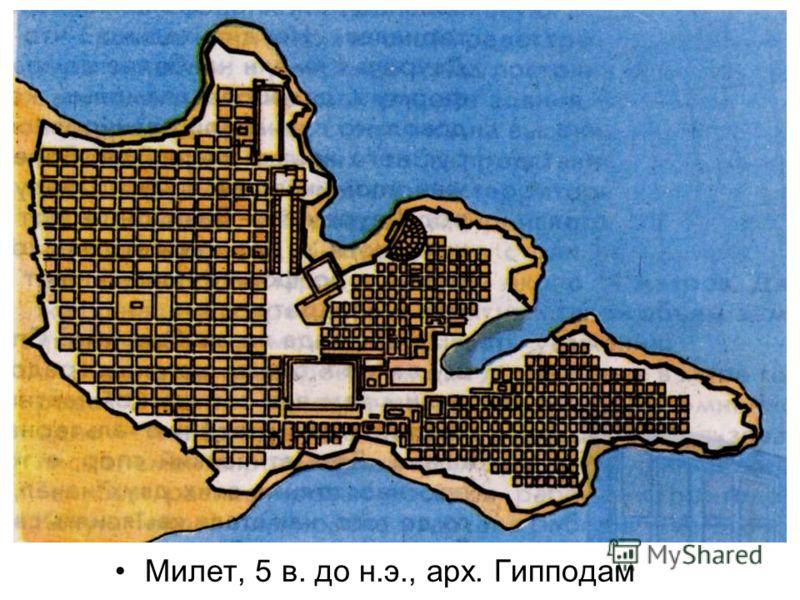 Милет, 5 в. до н.э., арх. Гипподам