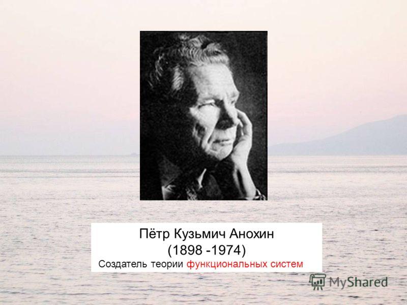 Пётр Кузьмич Анохин (1898 -1974) Создатель теории функциональных систем