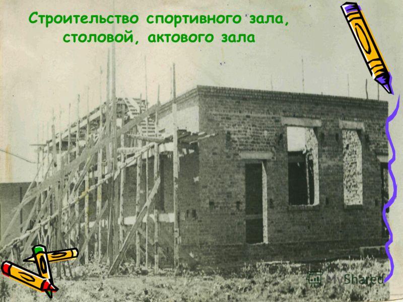 Строительство спортивного зала, столовой, актового зала