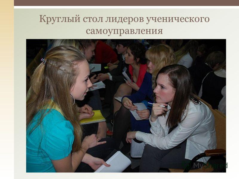 Круглый стол лидеров ученического самоуправления