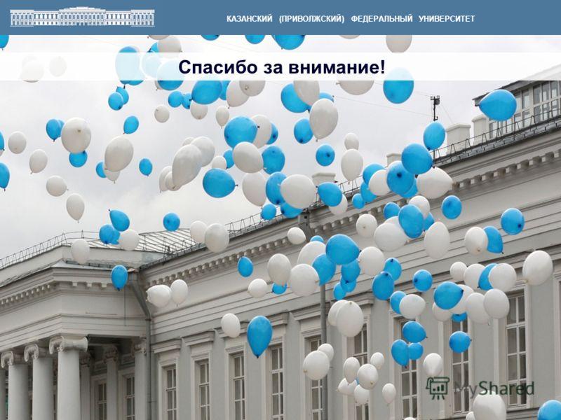 Спасибо за внимание! КАЗАНСКИЙ (ПРИВОЛЖСКИЙ) ФЕДЕРАЛЬНЫЙ УНИВЕРСИТЕТ