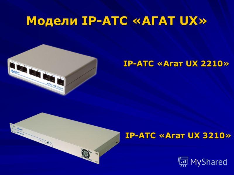 Модели IP-АТС «АГАТ UX» IP-АТС «Агат UX 2210» IP-АТС «Агат UX 3210»