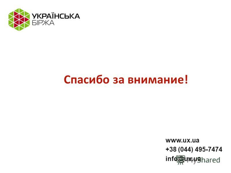 www.ux.ua +38 (044) 495-7474 info@ux.ua Спасибо за внимание!