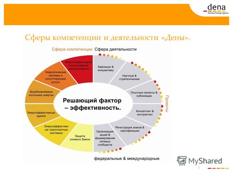 5 Сферы компетенции и деятельности «Дены».