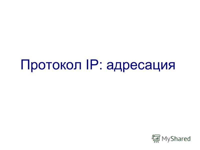 Протокол IP: адресация