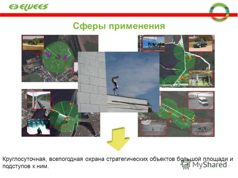 Сферы применения Круглосуточная, всепогодная охрана стратегических объектов большой площади и подступов к ним.
