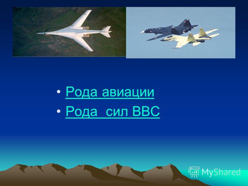 Рода авиации Рода сил ВВС