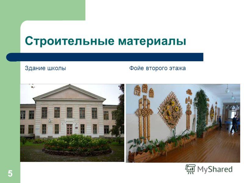 5 Строительные материалы Здание школы ФОТО Фойе второго этажа ФОТО