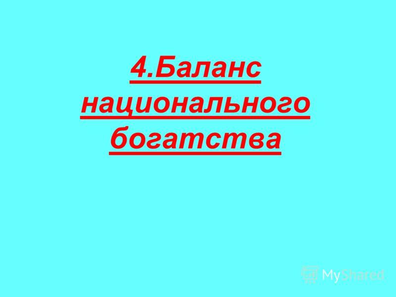 4.Баланс национального богатства