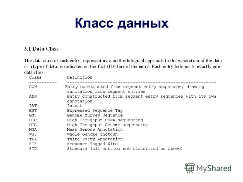 Класс данных
