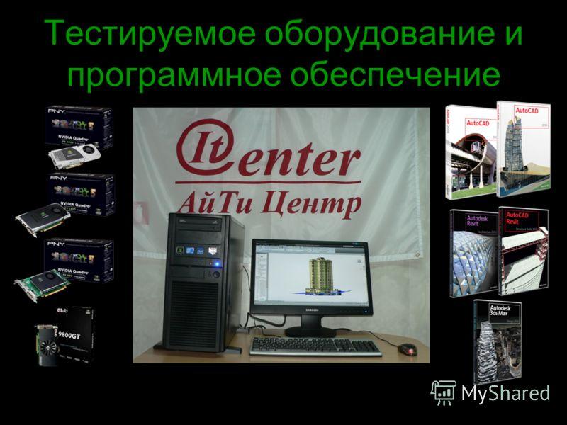 Тестируемое оборудование и программное обеспечение