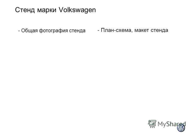 Стенд марки Volkswagen - Общая фотография стенда - План-схема, макет стенда