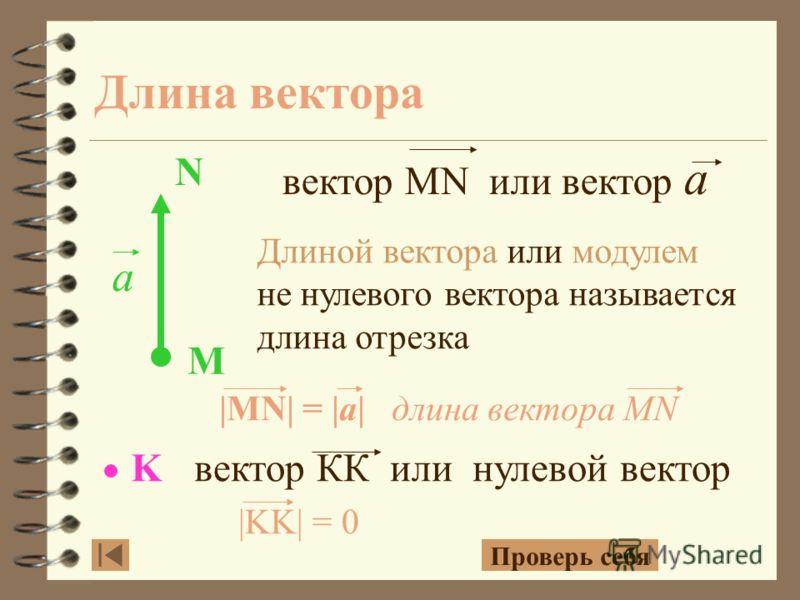 С D M N F E K DC MN FE KK Задание. Назови вектора и запиши их обозначения.