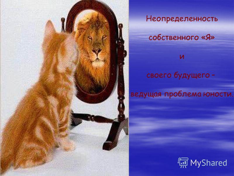 Неопределенность собственного «Я» и своего будущего – ведущая проблема юности.