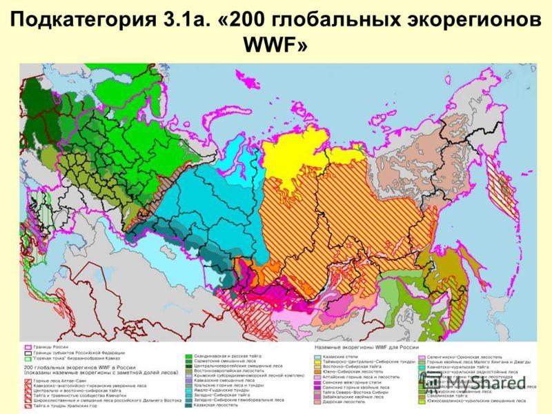 Подкатегория 3.1a. «200 глобальных экорегионов WWF»