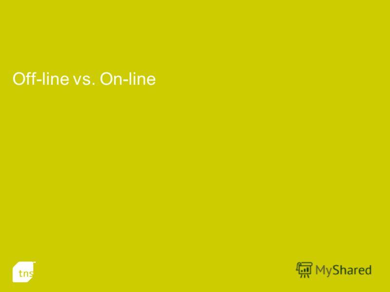 Off-line vs. On-line