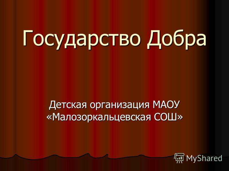 Государство Добра Детская организация МАОУ «Малозоркальцевская СОШ»