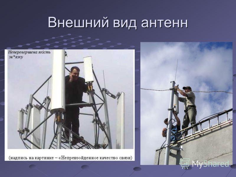 Внешний вид антенн