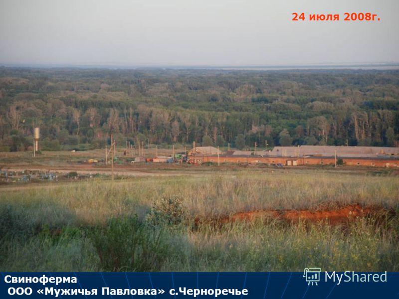 Свиноферма ООО «Мужичья Павловка» с.Черноречье 24 июля 2008г.