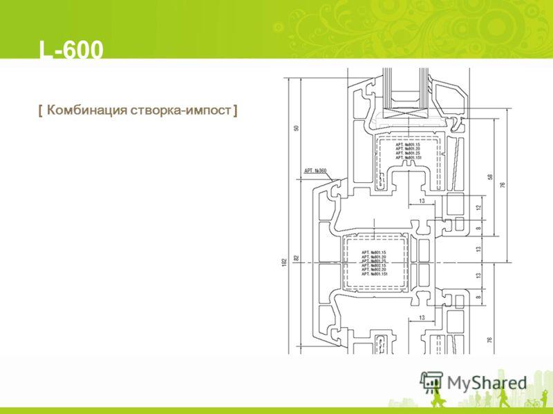 L-600 [ Комбинация створка-импост ]