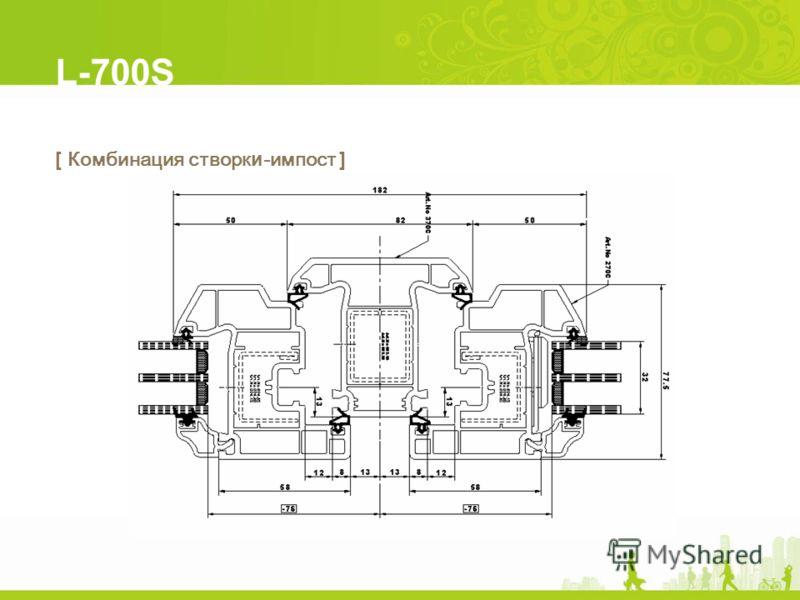 L-700S [ Комбинация створки-импост ]