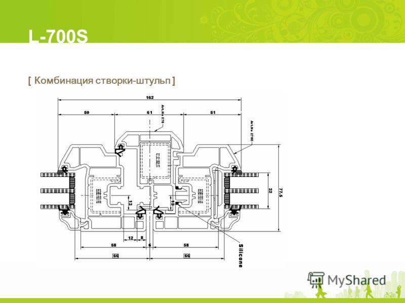 L-700S [ Комбинация створки-штульп ]