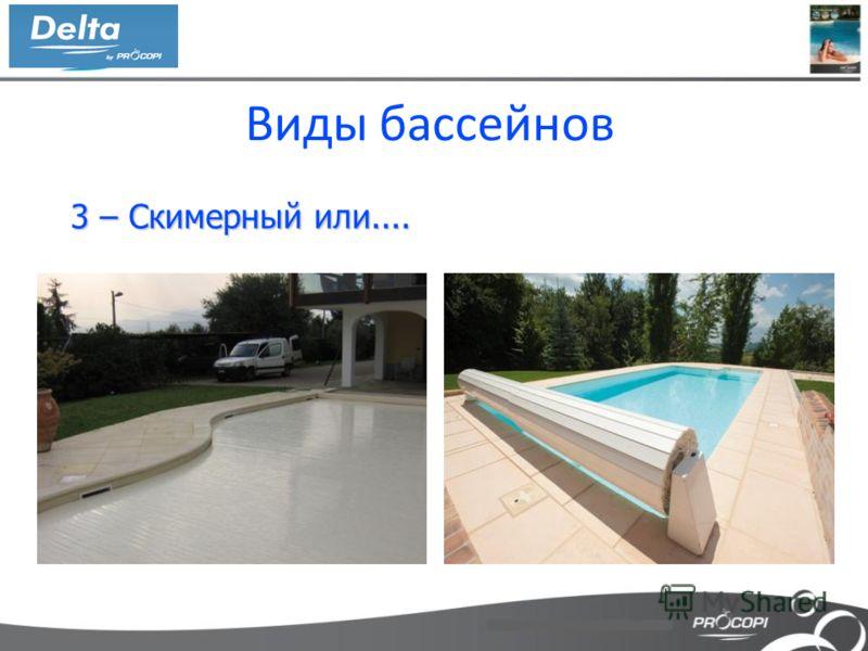 Виды бассейнов 3 – Скимерный или.... 3 – Скимерный или....