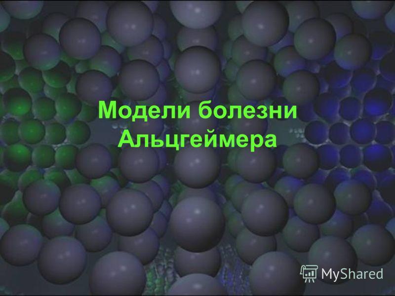 Модели болезни Альцгеймера