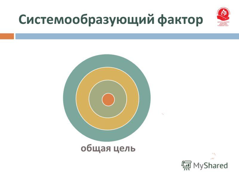 Системообразующий фактор общая цель