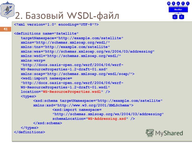 2. Базовый WSDL- файл 41