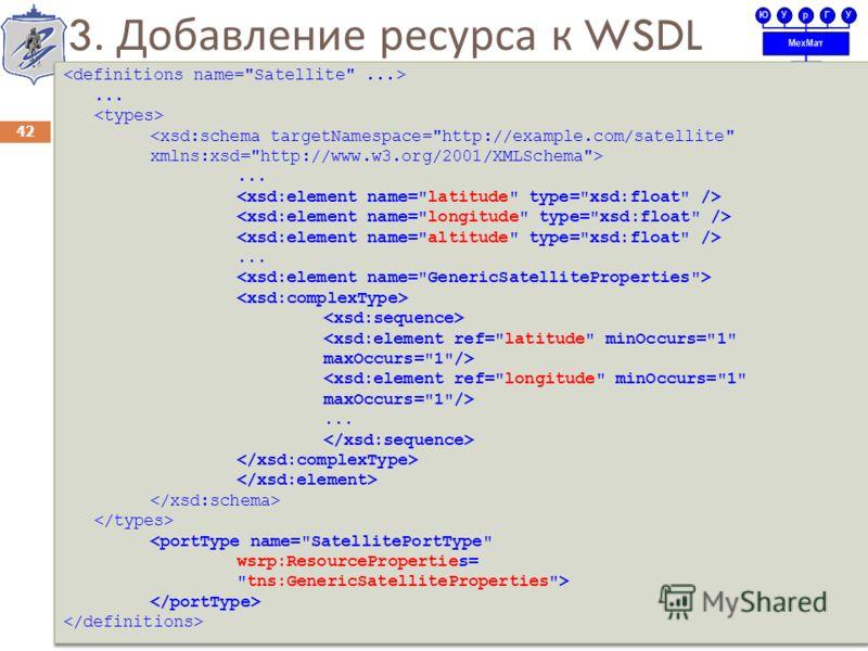 3. Добавление ресурса к WSDL 42... ......  ... ... ......  ...