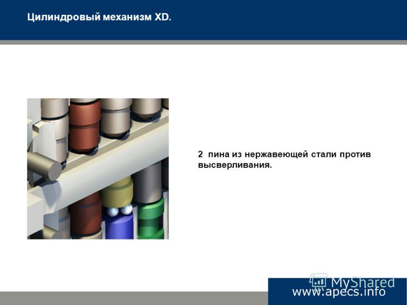 Цилиндровый механизм XD. 2 пина из нержавеющей стали против высверливания.