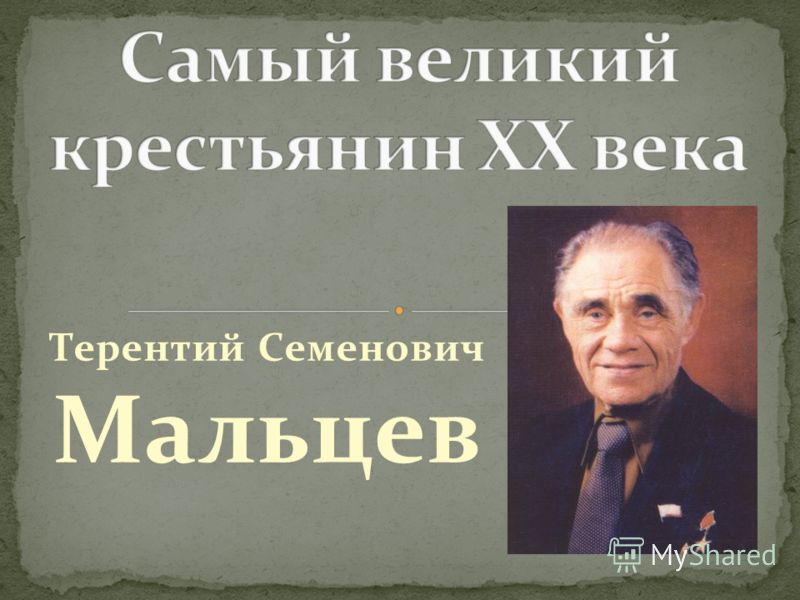 Терентий Семенович Мальцев