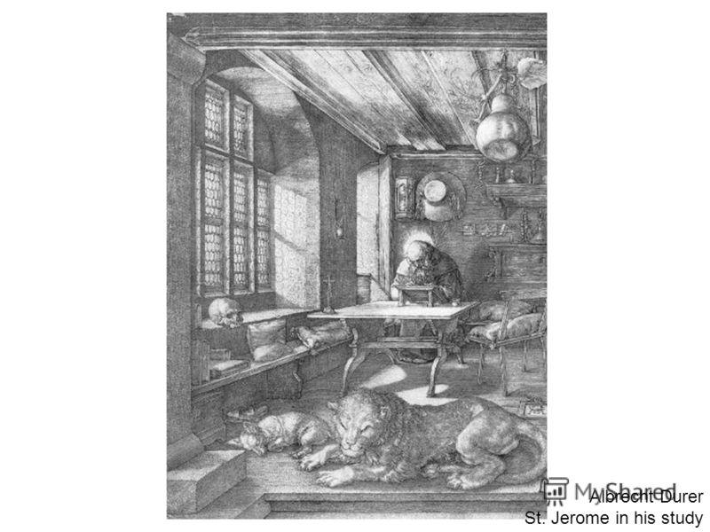 Albrecht Durer St. Jerome in his study