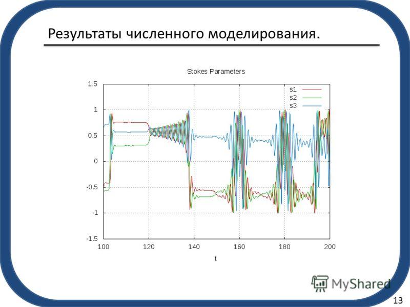 Результаты численного моделирования. 13