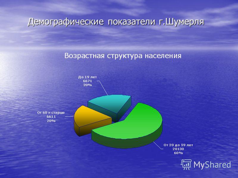 Демографические показатели г.Шумерля