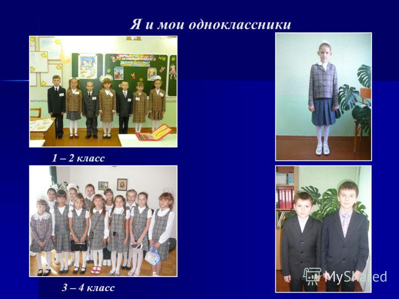 Я и мои одноклассники 1 – 2 класс 3 – 4 класс
