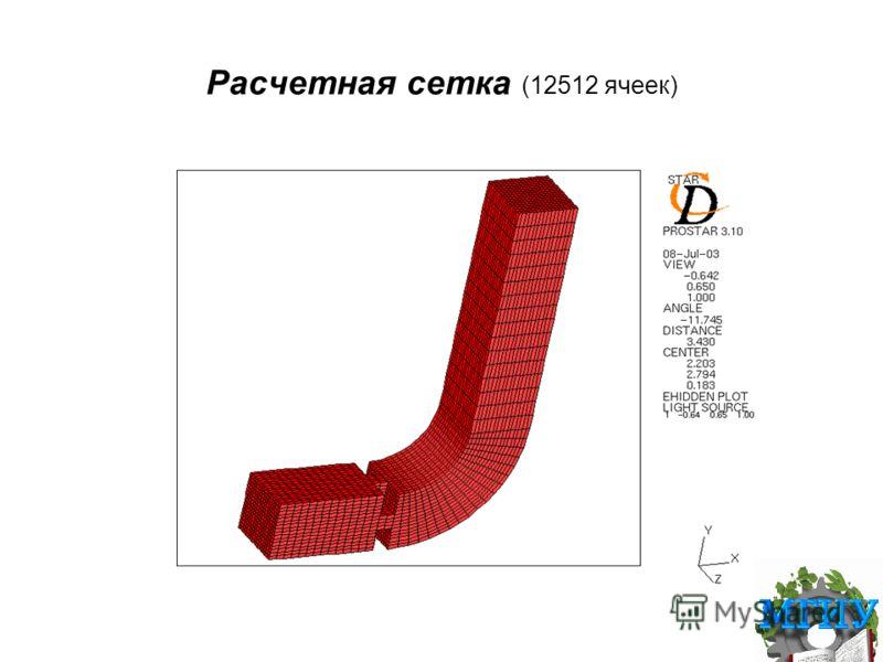 Расчетная сетка (12512 ячеек)