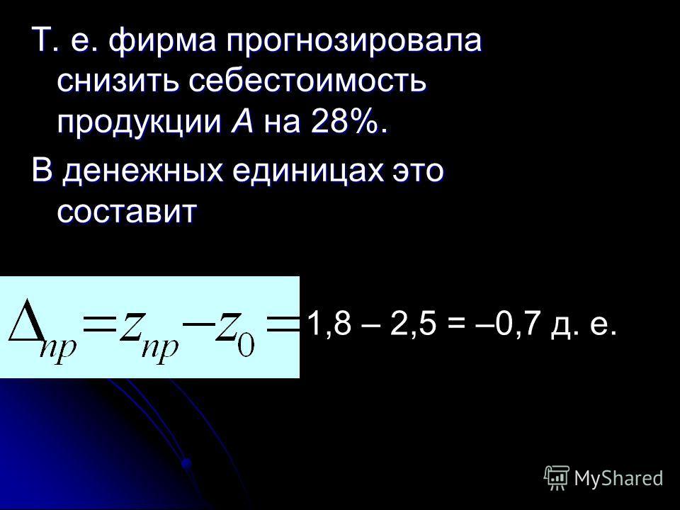 По продукции А = 0,72, или 72%