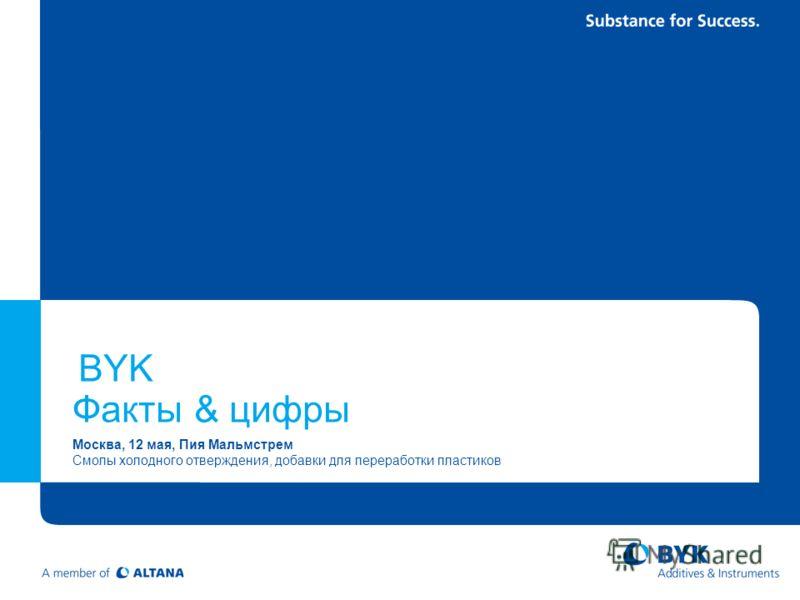 BYK Факты & цифры Mосква, 12 мая, Пия Мальмстрем Смолы холодного отверждения, добавки для переработки пластиков