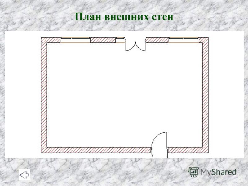План внешних стен