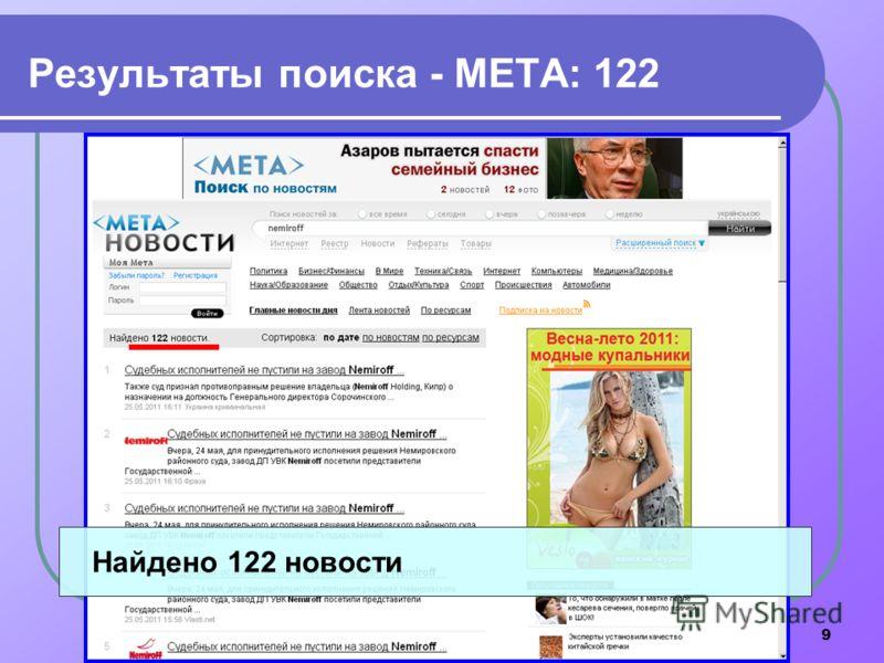 9 Результаты поиска - МЕТА: 122 Найдено 122 новости